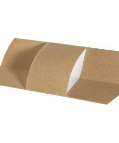 Besteckmanschette aus Papier in braun