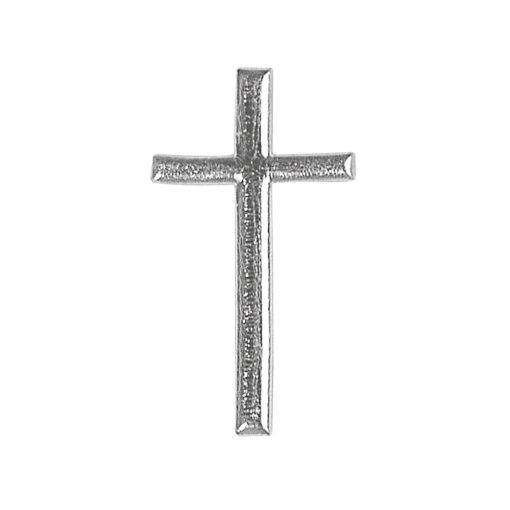 Wachsdekor Kreuz, zum Dekorieren, in silber