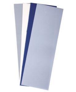 Wachsplatten 20x6,5cm in blautönen