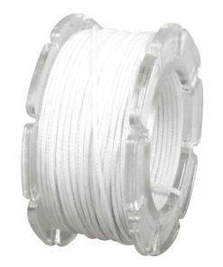 Wachskordel mit Nylonkern, 0,6mm ø in weiß