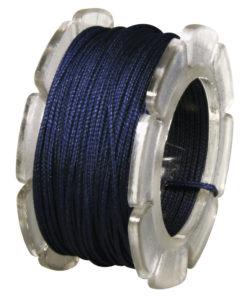 Wachskordel mit Nylonkern, 0,6mm Ø, jeansblau, zur Schmuckgestaltung