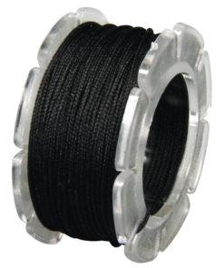 Wachskordel mit Nylonkern, 0,6mm ø in schwarz