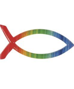 Wachsdekor Fisch in regenbogenfarben, zum Dekorieren
