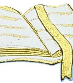 Wachsdekor Gebetbuch in weiß/gold, zum Dekorieren