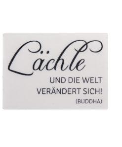 Rayher Wachsdekor Schriftzug Lächle, zum Dekorieren