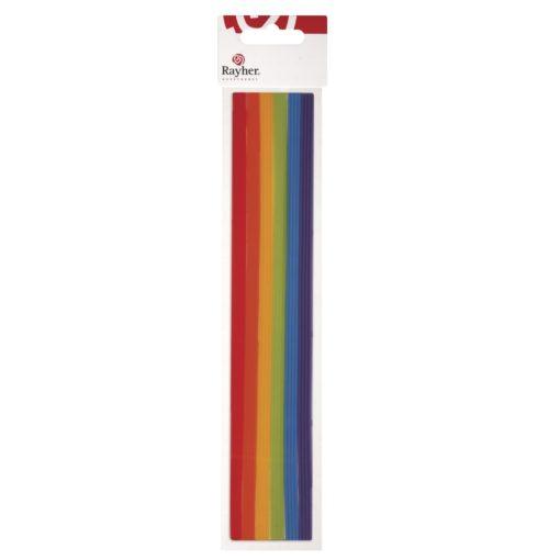 Zierstreifen aus Wachs, in regenbogenfarben
