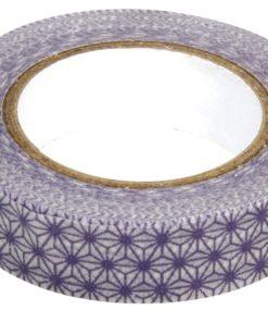 Washi-Tape Sterne 15 mm weiß-lila