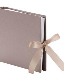 Fotoringbuch in taupe