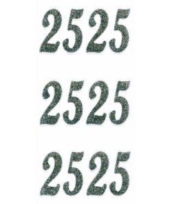 Rössler Handmade Sticker, Zahl 25