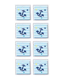 Rössler Handmade-Sticker Anker, Streifen