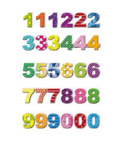 Rössler Handmade Sticker, bunte Zahlen