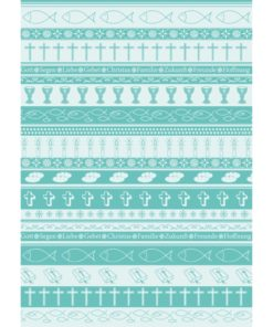 Ursus Transparentpapier Symbol-Mix A4, Türkis