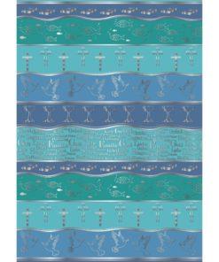 Ursus Transparentpapier Symbol-Mix A4, Blautöne