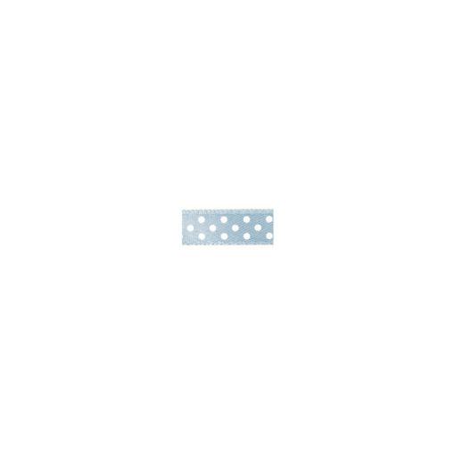 Satinband mit Punkten in hellblau