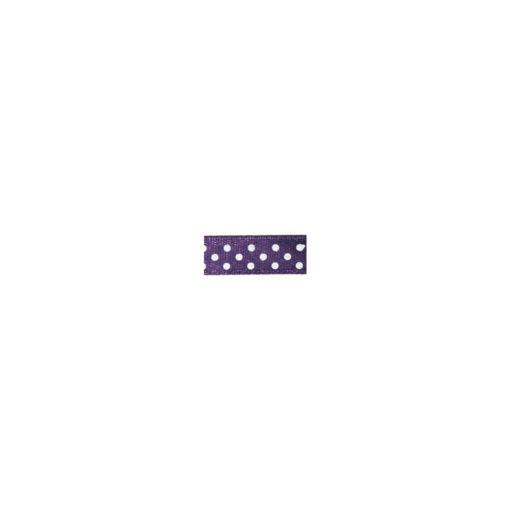 Satinband mit Punkten in lila