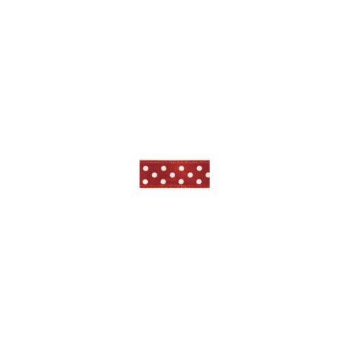 Satinband mit Punkten in rot
