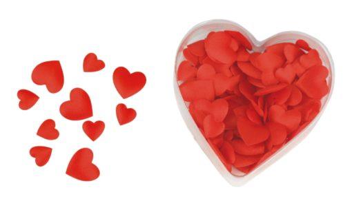 Satin Herzen in rot