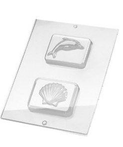 Rayher Gießform Delfin & Muschel, für Seife + Gießpulver