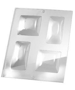 Rayher Gießform 3D quadratisch, für Seife + Gießpulver