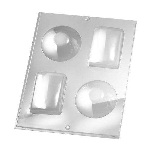 Rayher Gießform 3D rund & eckig, für Seife + Gießpulver