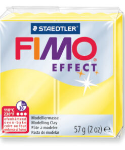 Ofenhärtende Modelliermasse Fimo, transluzent-gelb