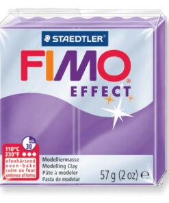 Ofenhärtende Modelliermasse Fimo, transluzent-lila