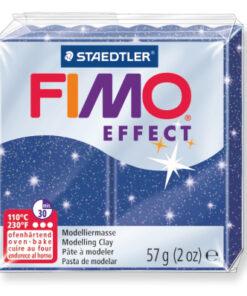 Ofenhärtende Modelliermasse Fimo, glitter-blau
