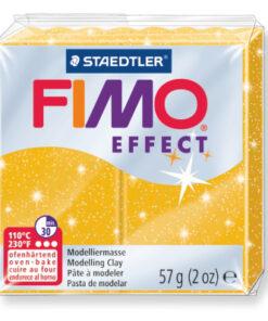 Ofenhärtende Modelliermasse Fimo, glitter-gold
