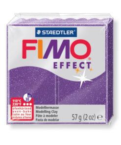 Ofenhärtende Modelliermasse Fimo, glitter-lila