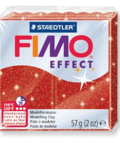 Ofenhärtende Modelliermasse Fimo, glitter-rot