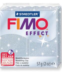 Ofenhärtende Modelliermasse Fimo, glitter-silber