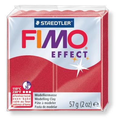 Ofenhärtende Modelliermasse Fimo, metallic-rubinrot
