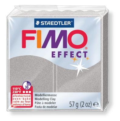 Ofenhärtende Modelliermasse Fimo, metallic-silber