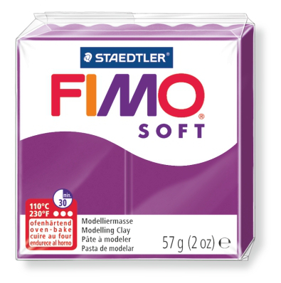 Ofenhärtende Modelliermasse Fimo, purpur