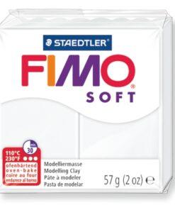 Ofenhärtende Modelliermasse Fimo, weiss