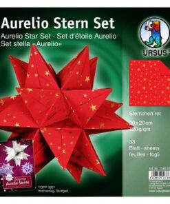 Aurelio-Stern Faltblätter Sternchen, rot