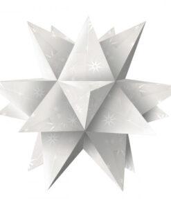 """Faltblätter Aurelio-Stern, """"White Line"""" Sterne"""