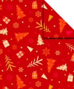 Faltblätter Aurelio-Stern, Winterzauber 2, orange/rot