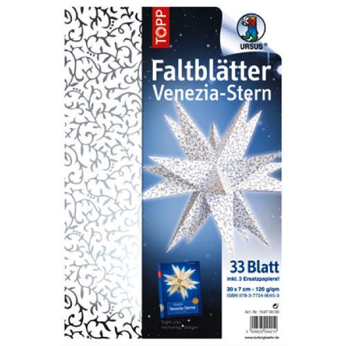 Ursus Faltblätter Venezia Stern apart klassik, 33 Blatt