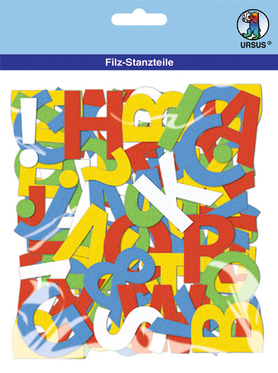 Filz-Stanzteile Buchstaben