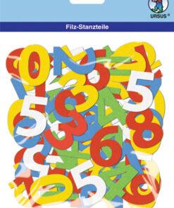 Filz-Stanzteile Zahlen