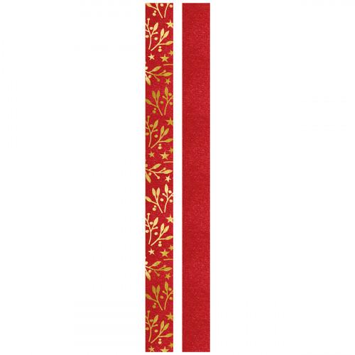 Faltstreifen für Fröbelsterne, rot & gold