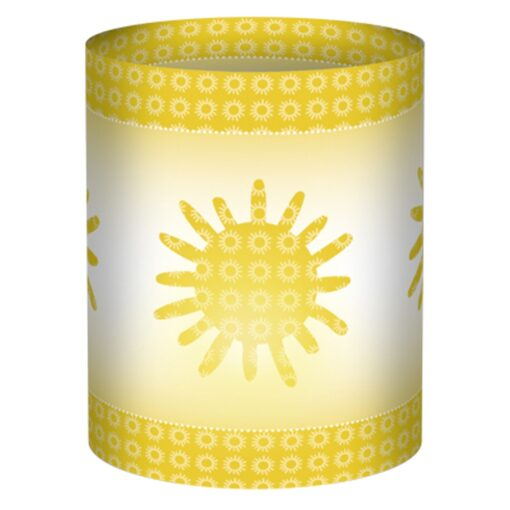 Ursus Mini-Tischlicht Joy gelb, zum Basteln