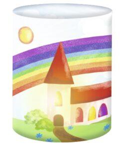Ursus Mini-Tischlicht Kirche zum Basteln