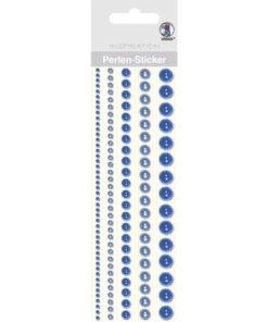 Ursus Perlen-Sticker, blau, zum Dekorieren