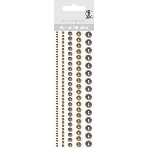 Ursus Perlen-Sticker, braun, zum Dekorieren