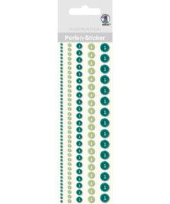 Ursus Perlen-Sticker, grün, zum Dekorieren