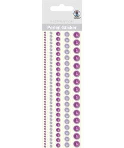Ursus Perlen-Sticker, lila, zum Dekorieren