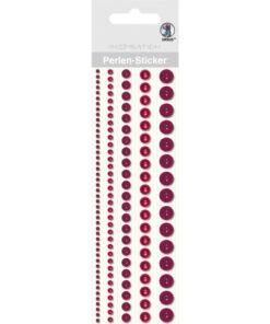 Ursus Perlen-Sticker, rot, zum Dekorieren