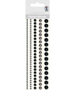 Ursus Perlen-Sticker, schwarz, zum Dekorieren